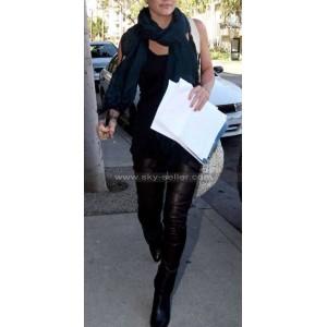 Hilary Duff Skin Tight Black Leather Pants