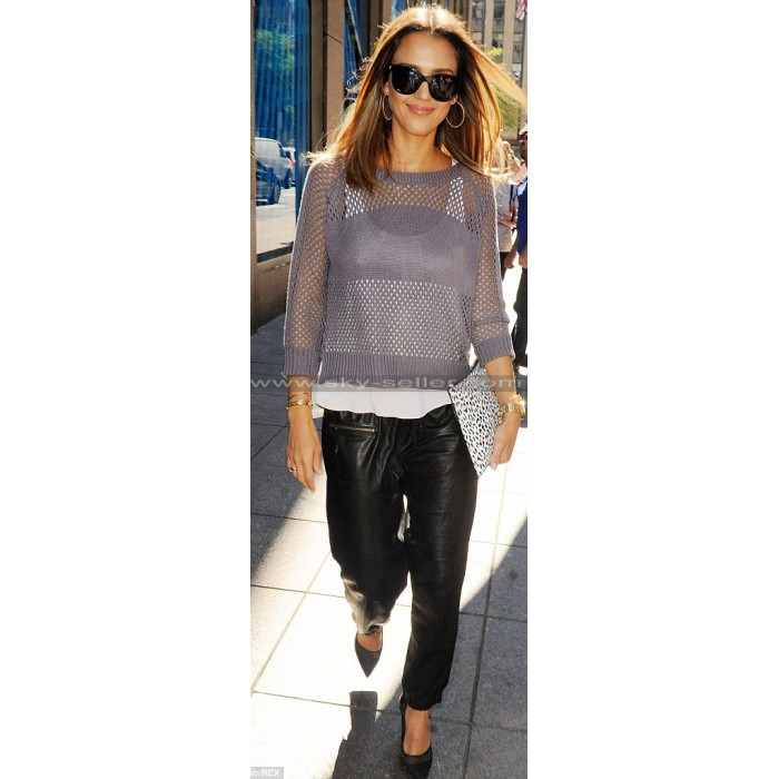 Jessica Alba Sin City 2 A Dame To Kill Premiere Leather Trousers