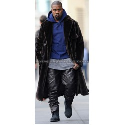 Kanye West Stylish Black Leather Pants