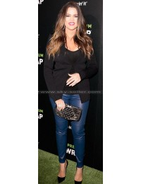 Khloe Kardashian Marc Violet Leather Pants
