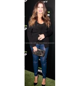 Khloe Kardashian Marc Violet Leather Pants