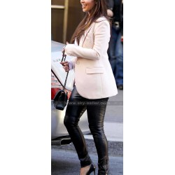 Kim Kardashian Slim Fit Black Leather Leggings