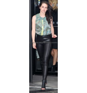 Kristen Stewart Skinfit Black Leather Pants