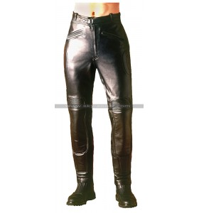 Warrior Black Men's Biker Leather Pants
