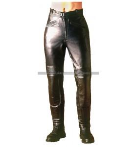 Warrior Black Men's Biker Leather Pants
