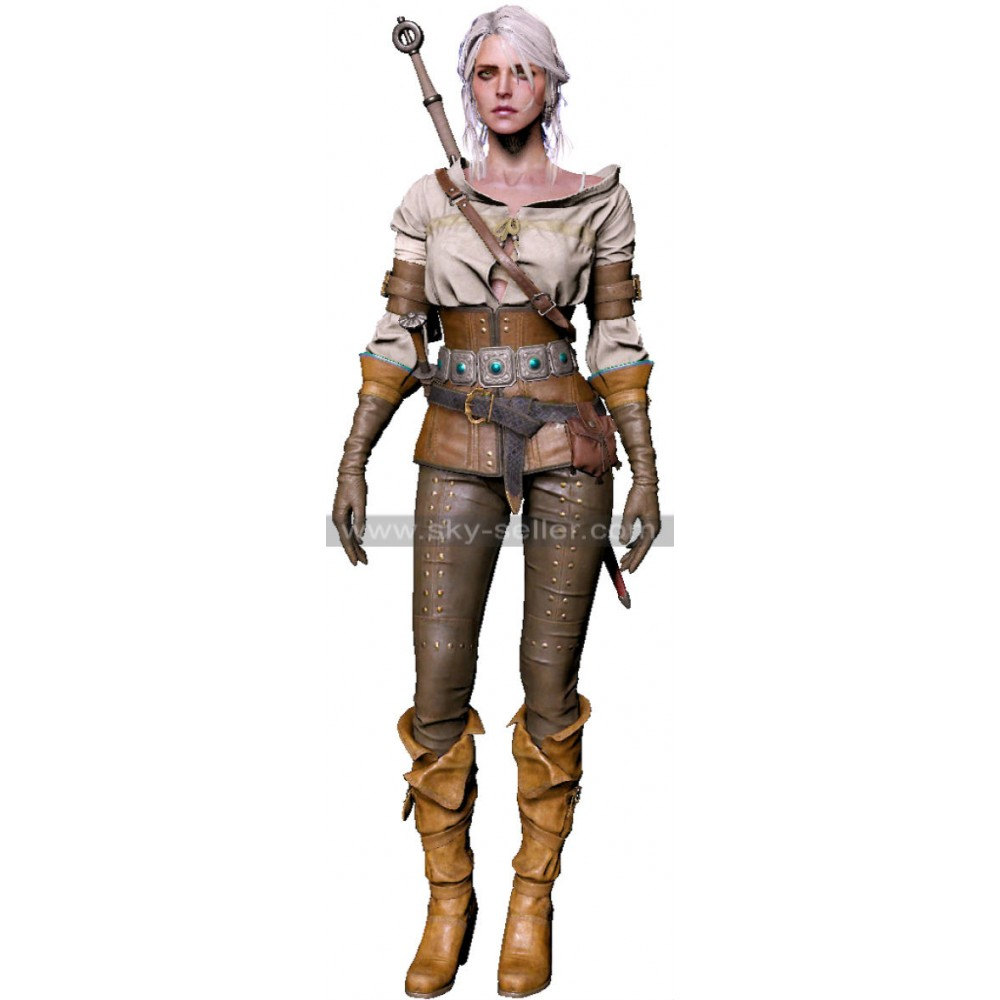 The Witcher 3 Wild Hunt Ciri Gameplay Leather Costume