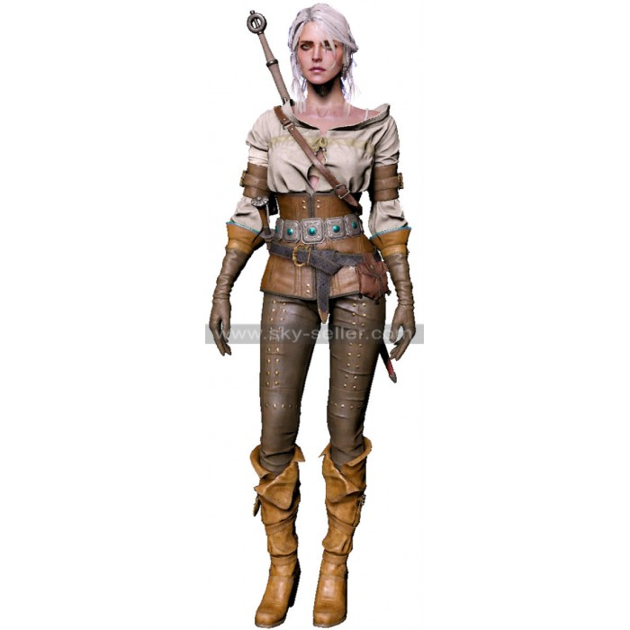The Witcher 3 Wild Hunt Ciri Gameplay Leather Costume
