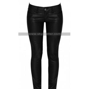 Women Black Skinny Leather Pants