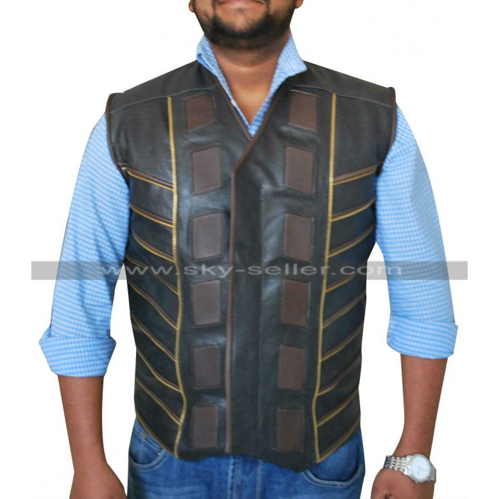 Anthony Lemke Dark Matter Marcus Boone Leather Vest