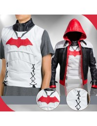 Red Hood Batman Arkham Knight Leather Costume Vest Jacket