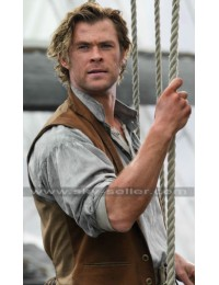 Chris Hemsworth In the Heart of the Sea Brown Vest