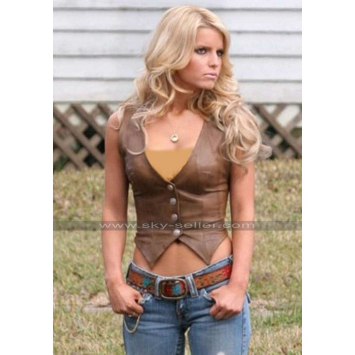 Daisy Dukes of Hazzard Jessica Simpson Leather Vest
