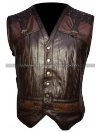 Kris Holden Reid Lost Girl Brown Leather Vest