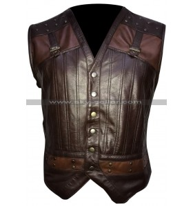 Kris Holden Reid Lost Girl Brown Leather Vest