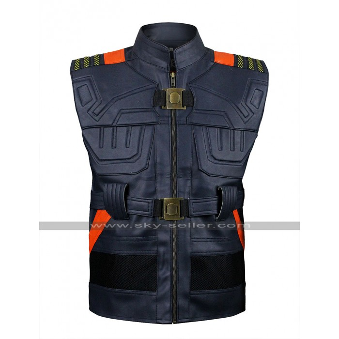 Black Panther (Erik Killmonger) Armor Style Leather Vest Costume