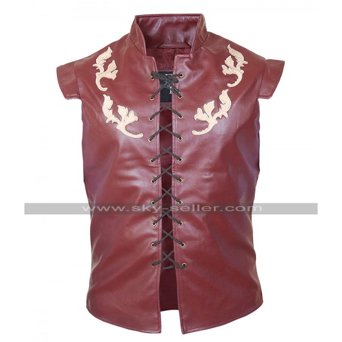 Peter Dinklage Game Of Thrones GOT Tyrion Lannister Costume Red Leather Vest