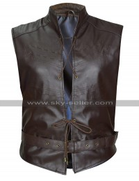 Iwan Rheon Game Of Thrones GOT Ramsay Bolton Belted Brown Leather Vest