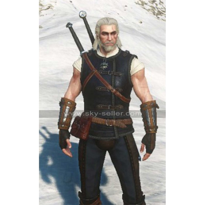 Geralt Witcher 3 Cat School Gear Leather Vest