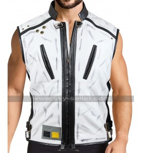 A Star Wars Story Han Solo Alden Ehrenreich White Leather Vest