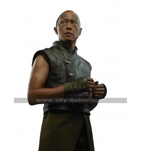 Karnak Inhumans Ken Leung Costume Black Leather Vest
