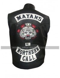 Mayans M.C. Ezekiel Reyes (JD Pardo) Northern Cali Black Leather Vest