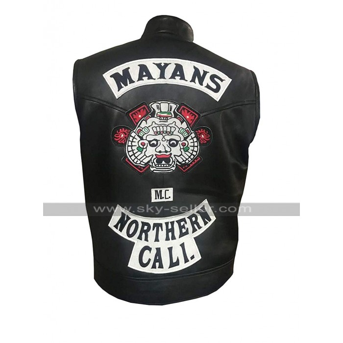 Mayans M.C. Ezekiel Reyes (JD Pardo) Northern Cali Black Leather Vest