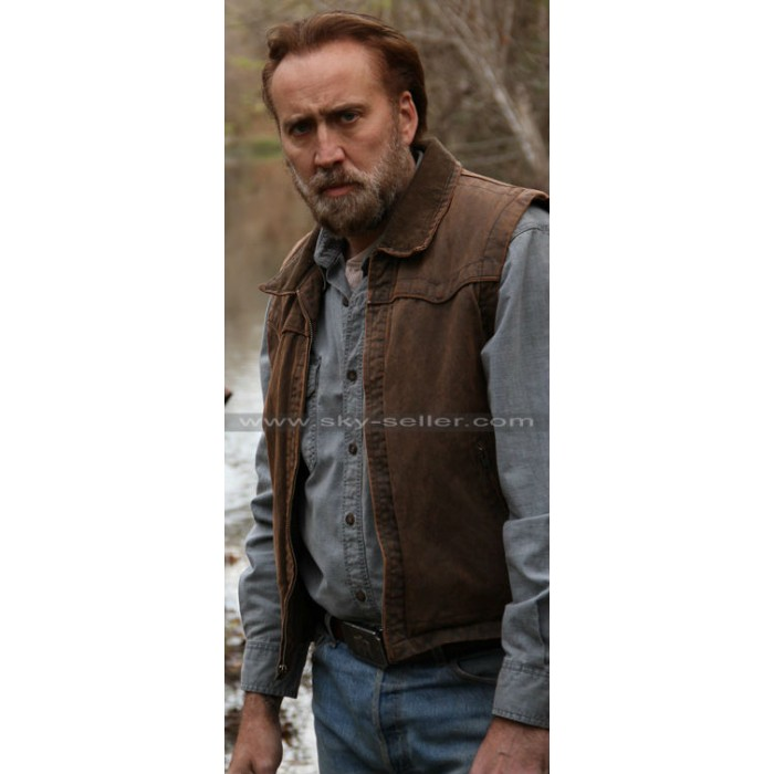 Joe (Nicolas Cage) Ransom Brown Leather Vest