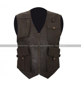 Jurassic World Fallen Kingdom Chris Pratt (Owen Grady) Brown Leather Vest