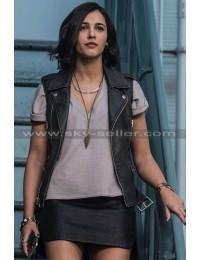 Kimberly Hart Power Rangers Naomi Scott Leather Vest