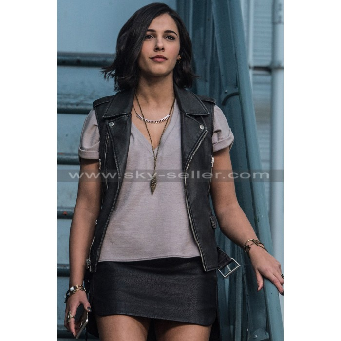 Kimberly Hart Power Rangers Naomi Scott Leather Vest