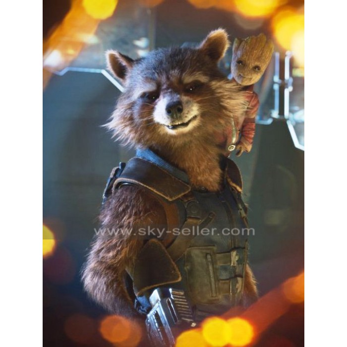 Guardians of Galaxy Vol 2 Avengers Rocket Raccoon Leather Vest