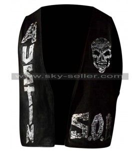 WWE Stone Cold Steve Austin Skull SOB Leather Vest