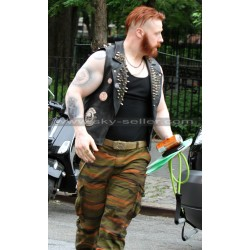 Sheamus TMNT 2 Rocksteady Biker Vest with Patches