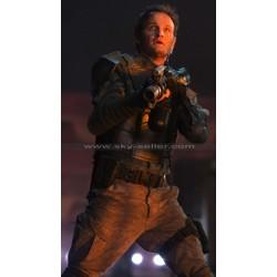 Terminator Genisys John Connor Black Leather Vest