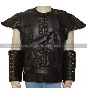 The Huntsman Chris Hemsworth Black Leather Vest