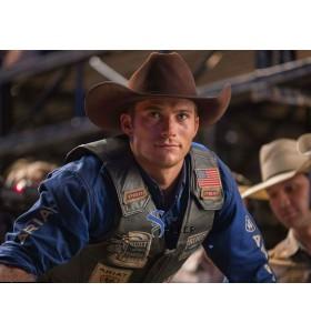 The Longest Ride Scott Eastwood (Luke Collins) Black Leather Vest