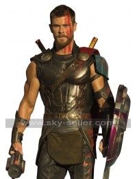 Thor Ragnarok Chris Hemsworth Armour Leather Costume Vest