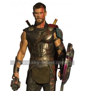 Thor Ragnarok Chris Hemsworth Armour Leather Costume Vest