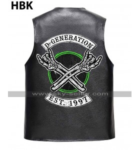 D Generation X Shawn Michaels WWE Crown Jewel DX HBK Black Vest Leather Jacket