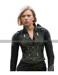 Black Widow Avengers Infinity War Scarlett Johansson Costume Black Vest