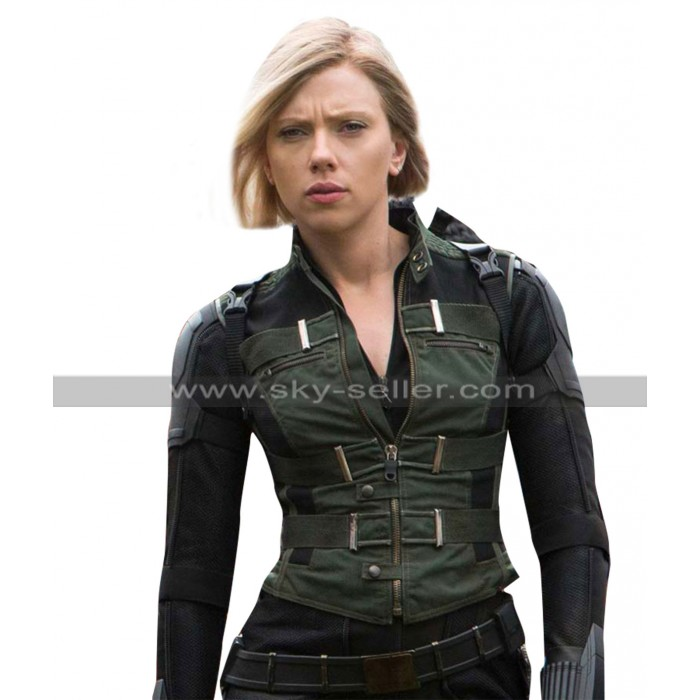 Avengers Infinity War Black Widow (Scarlett Johansson) Costume Leather Vest