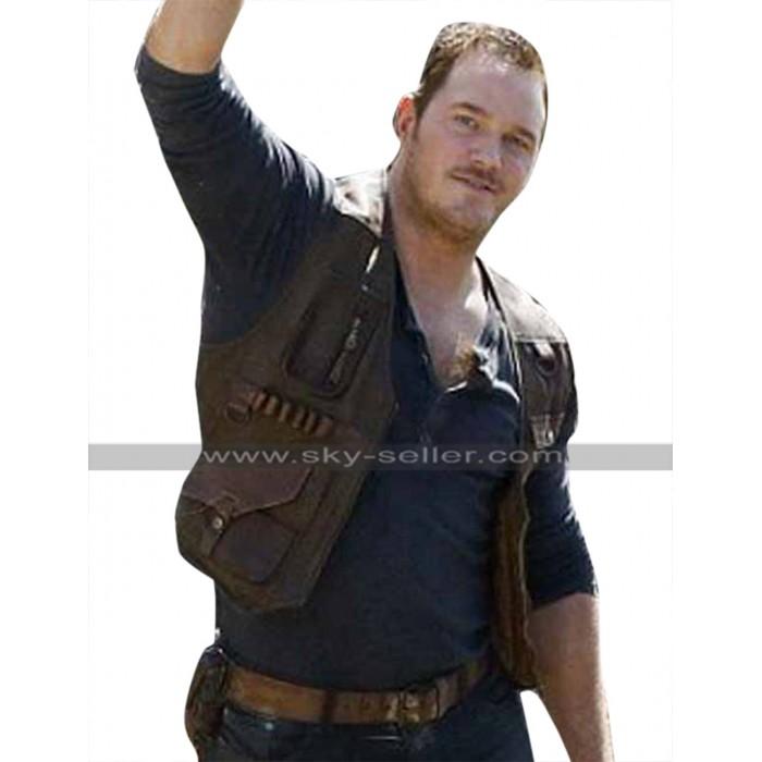 Jurassic World Fallen Kingdom Chris Pratt (Owen Grady) Brown Leather Vest