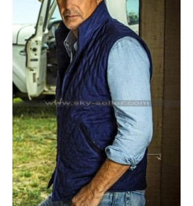 Yellowstone John Dutton Blue Quilted Vest