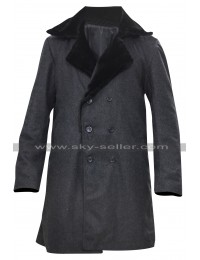Fargo Lorne Malvo Black Fur Collar Wool Coat