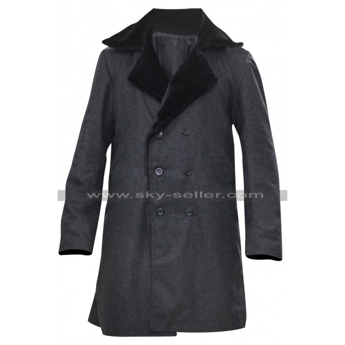 Fargo Lorne Malvo Black Fur Collar Wool Coat