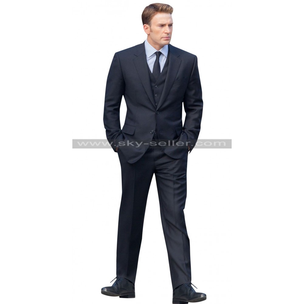 Captain America Civil War Chris Evans Black Suit