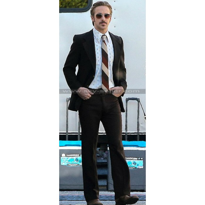 Ryan Gosling Nice Guys Retro Inspired Black Suit