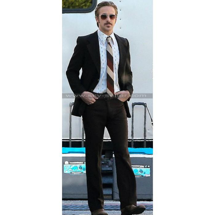 Ryan Gosling Nice Guys Retro Inspired Black Suit