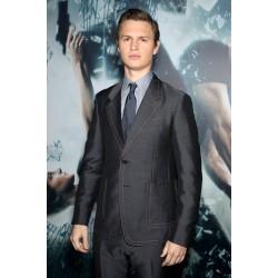 Divergent Insurgent Ansel Elgort (Caleb Prior) Premiere Grey Men Suit