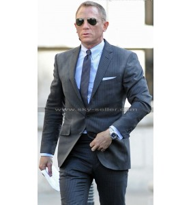 James Bond Skyfall Charcoal Pin Stripes Suit